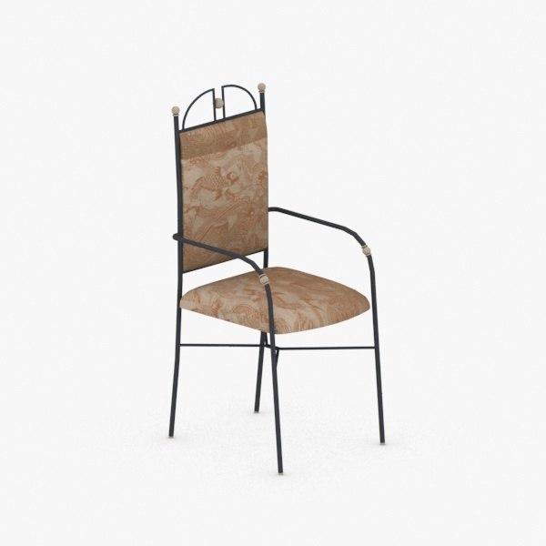 3D interior - chair stool