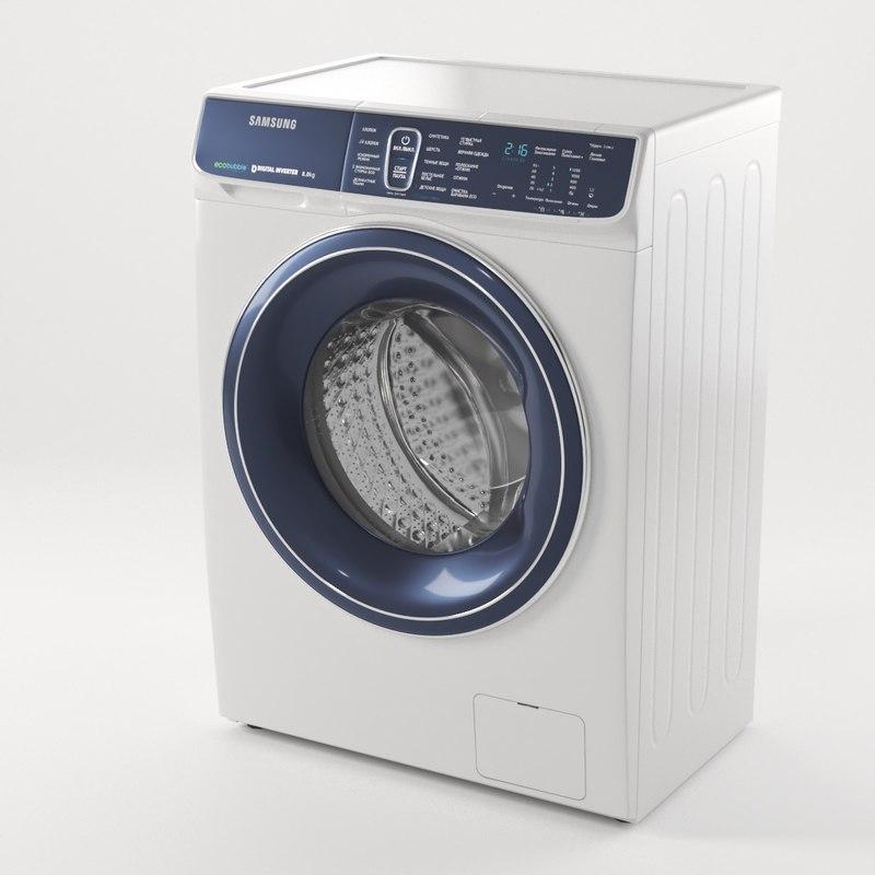 washing machine samsung 3D model