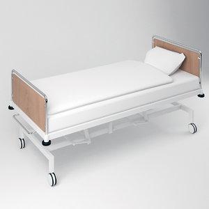 3D model simple hospital bed