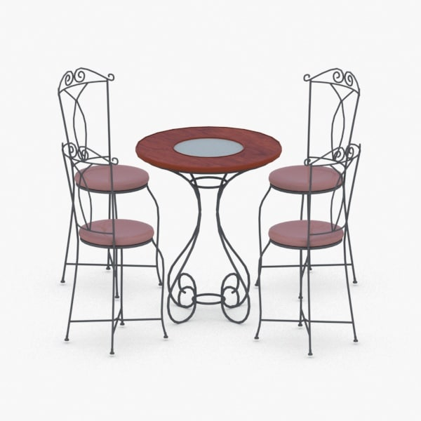interior - sets chair table 3D model