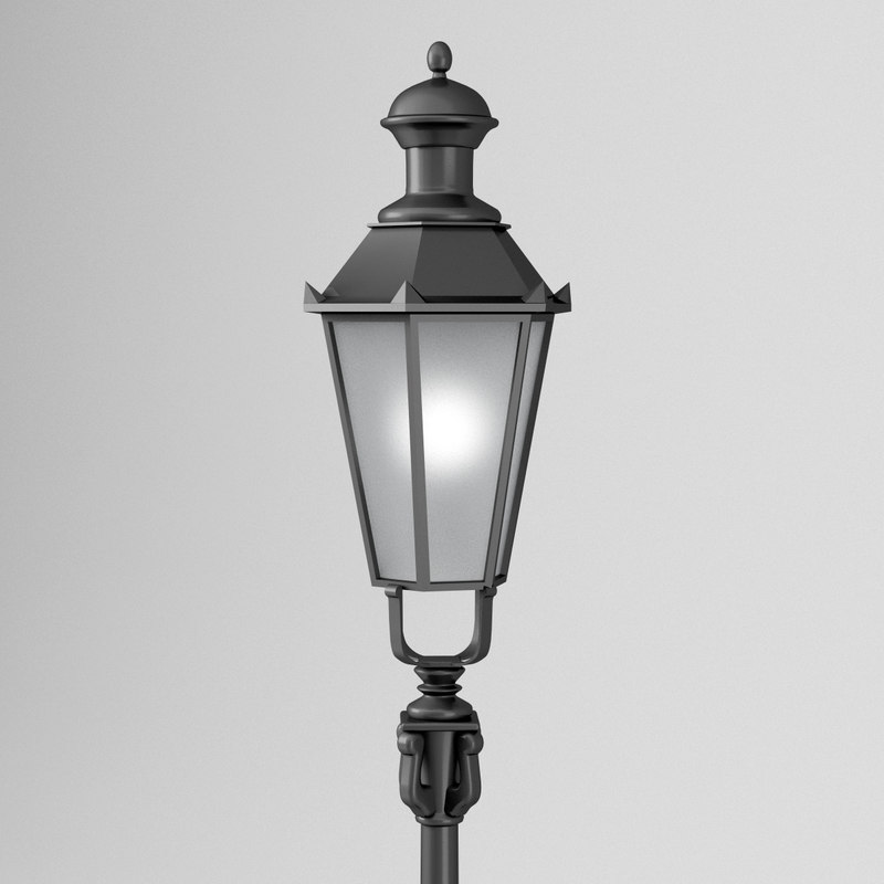 street lamp old munich 3D