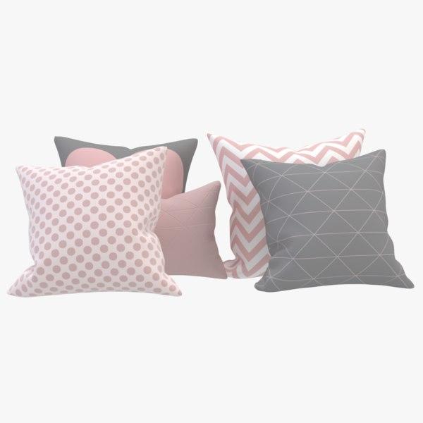 3D 5 pillows