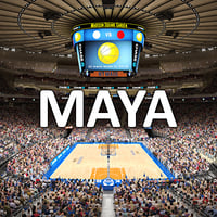 MSG Basketball Arena with Animated Audience (MAYA)