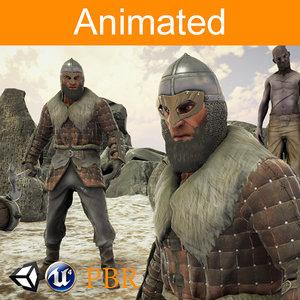 3D model character viking ulf