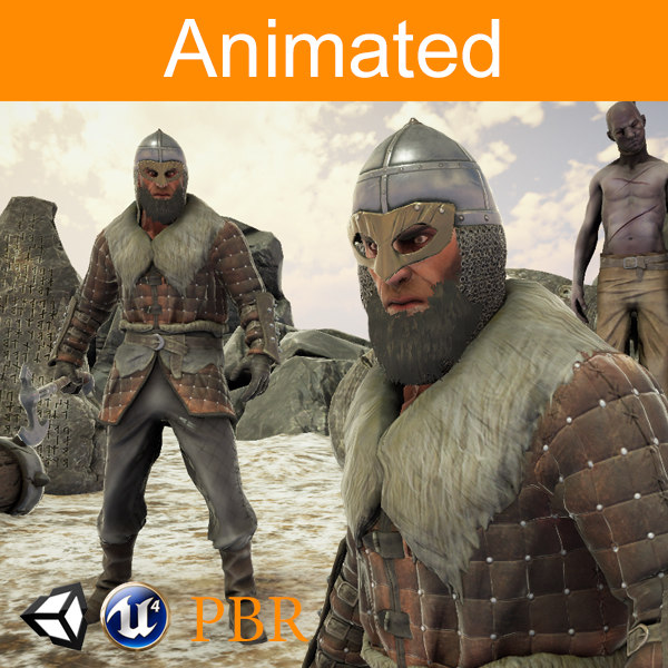 3D model character viking ulf
