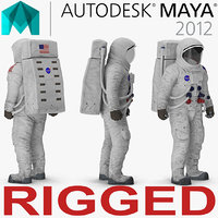 A7L Spacesuit Rigged for Maya