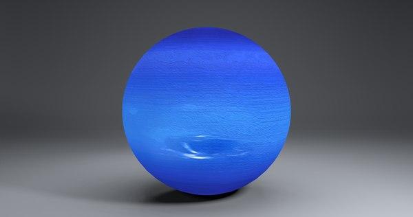 3D neptune 2k globe
