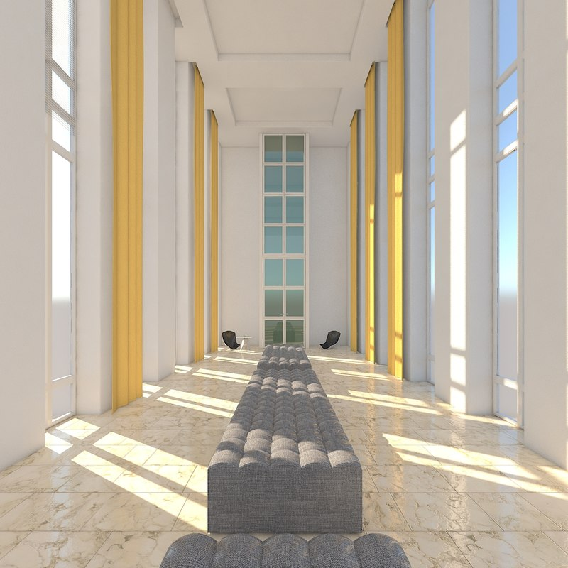 lobby 01 3D model