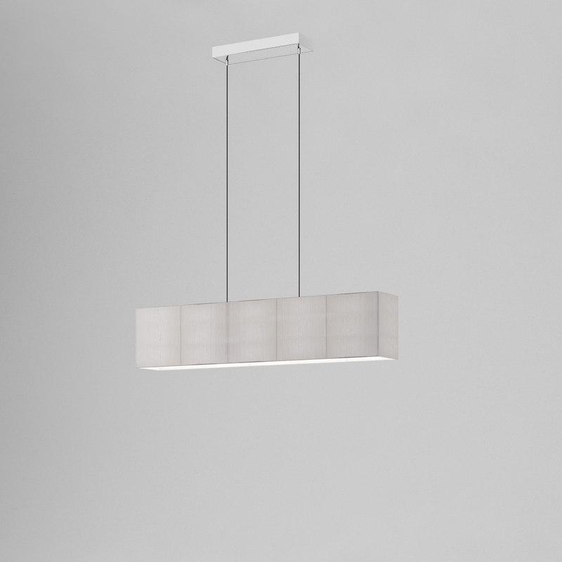 3D ceiling lamp clavius axo model