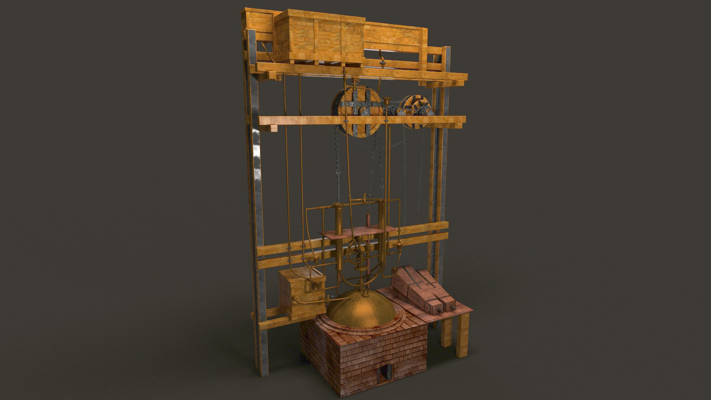 ivan polzunov steam engine 3D model