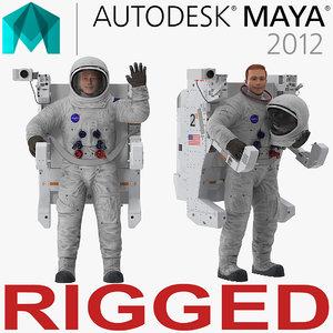 3D astronaut spacesuit a7l manned