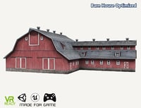 optimized ar barn house 3D model
