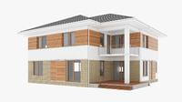 3D house modern