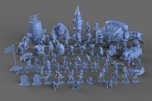 3D model toys triton army