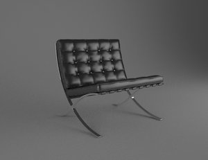 3D model cadeira barcelona