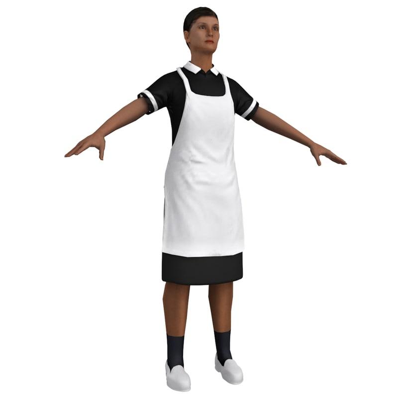 3D maid model