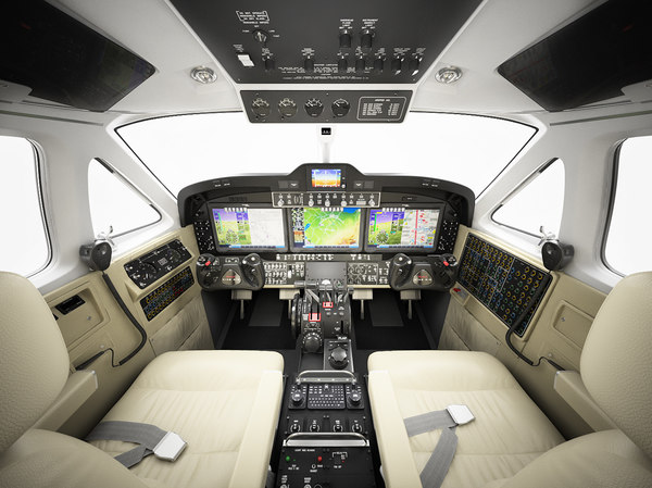cabin beechcraft king air 3D model