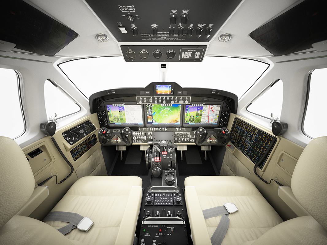 cabin beechcraft king air 3D model