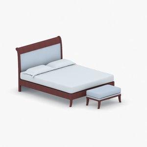 3D model interior - bed