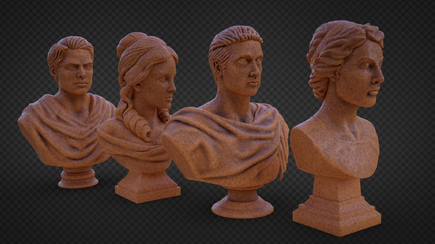 3D busts male female