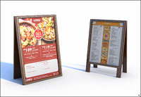 menu board 3D model