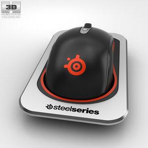 3D steelseries sensei wireless model