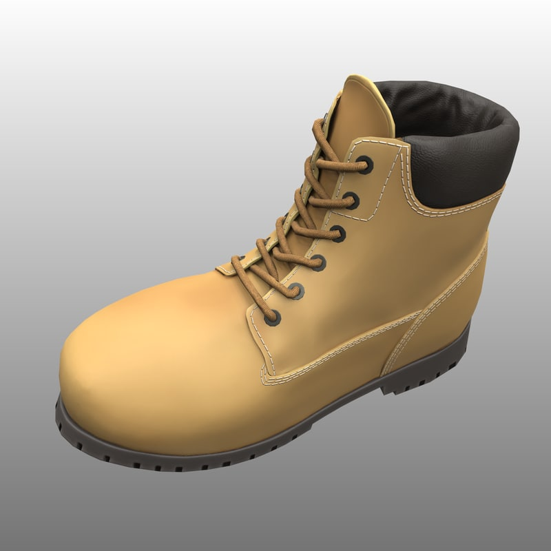 3D boot yellow
