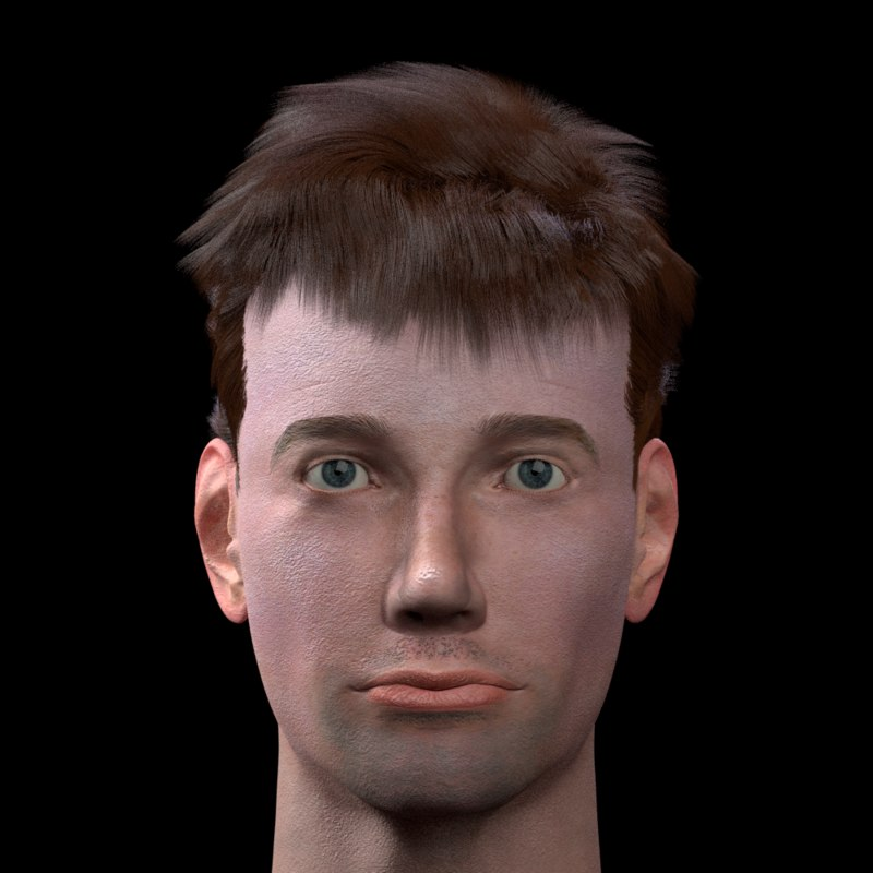 male head adam 3D model