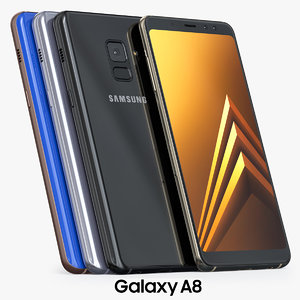 samsung galaxy a8 2018 3D model
