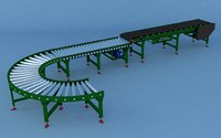 belt roller conveyor 3D model