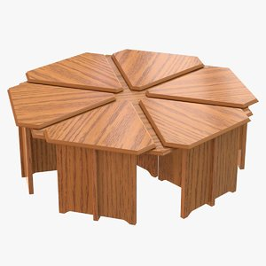 3D coffee table hexagon