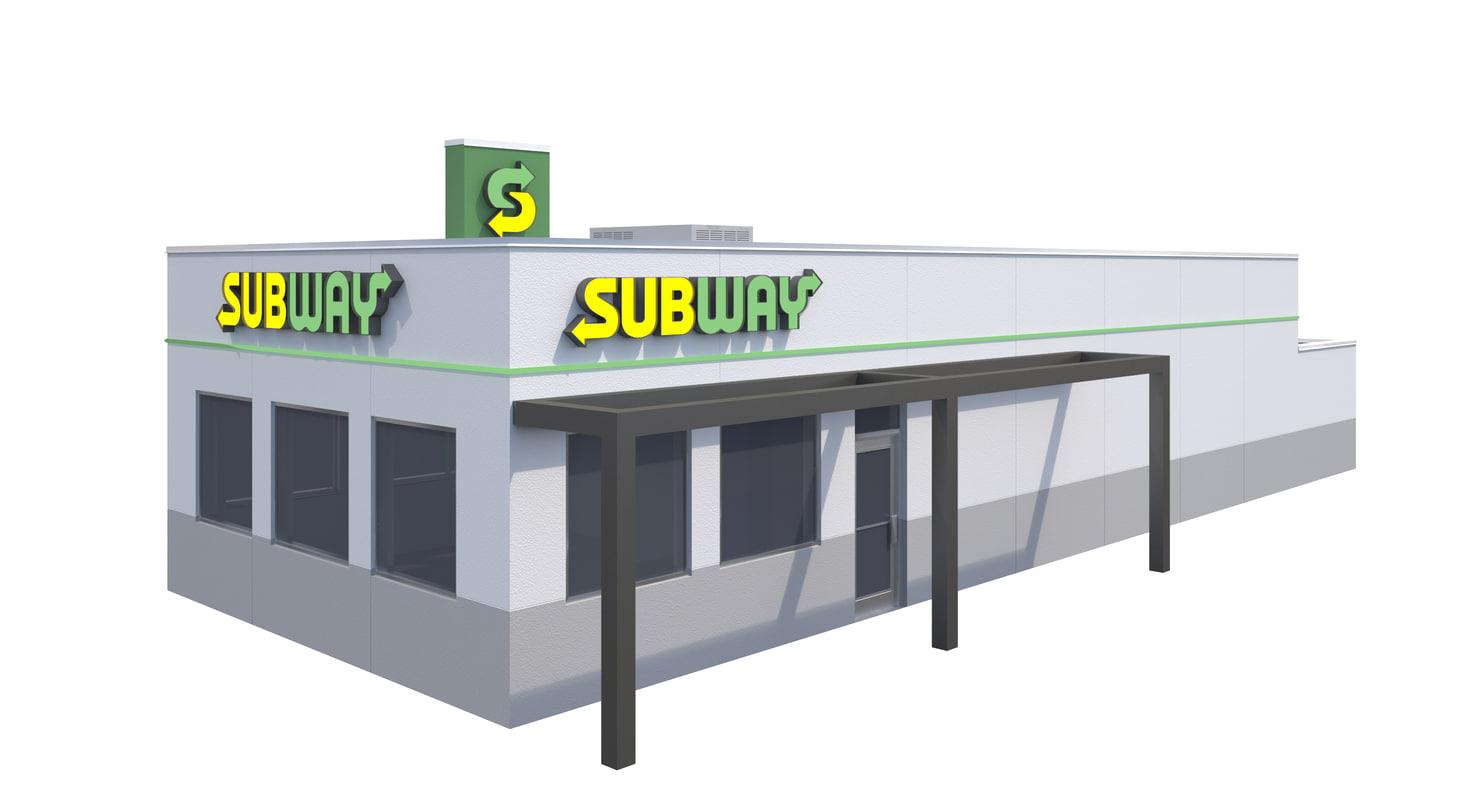 3D exterior subway