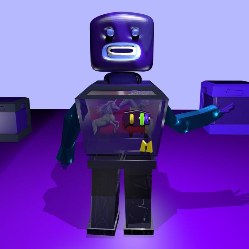 3D robot fantasy toy