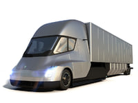 3D tesla semi truck model