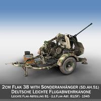 2cm flak 38 sd 3D model
