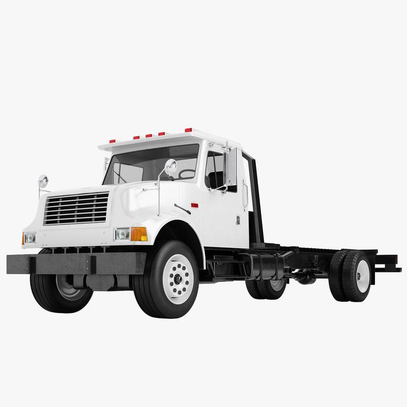 truck international 4700 3D model