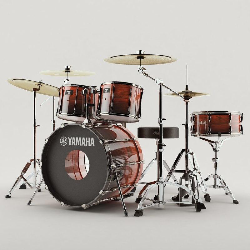 3D drum music instrument