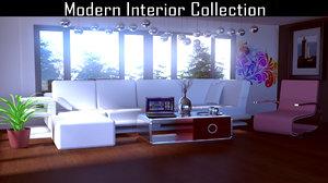 3D furniture modern sofa model