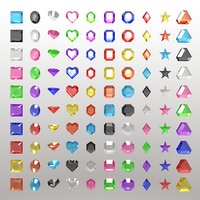 100 gems for Unreal or Unity