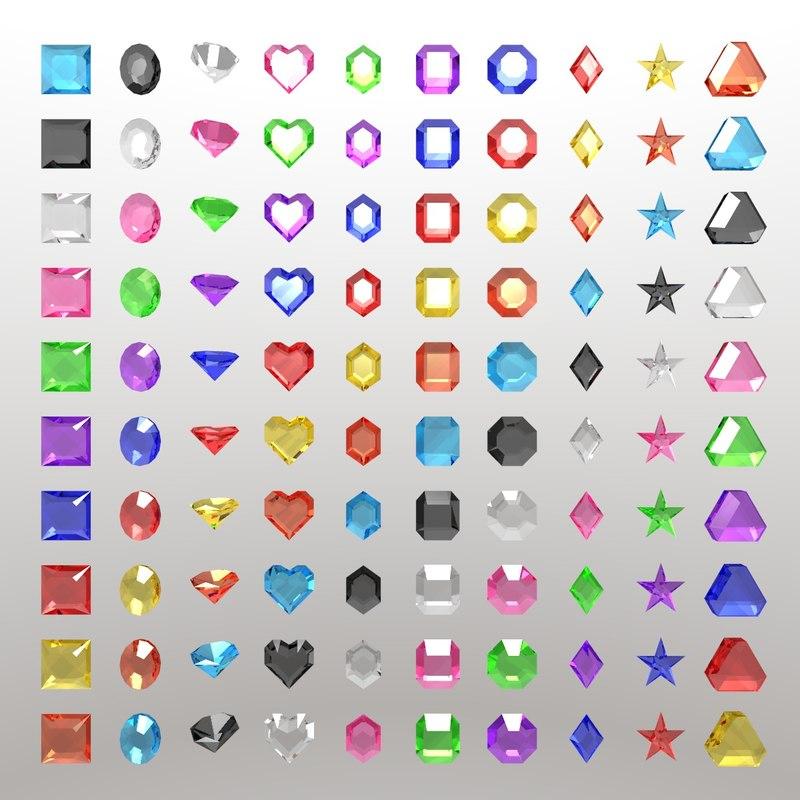 3D 100 stones jewel