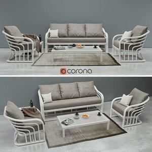 casa gran sofa 3D