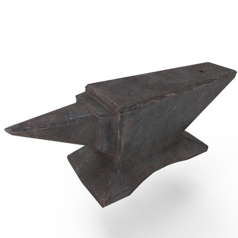 3D anvil model