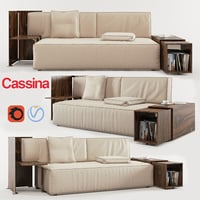 world cassina sofa 3D
