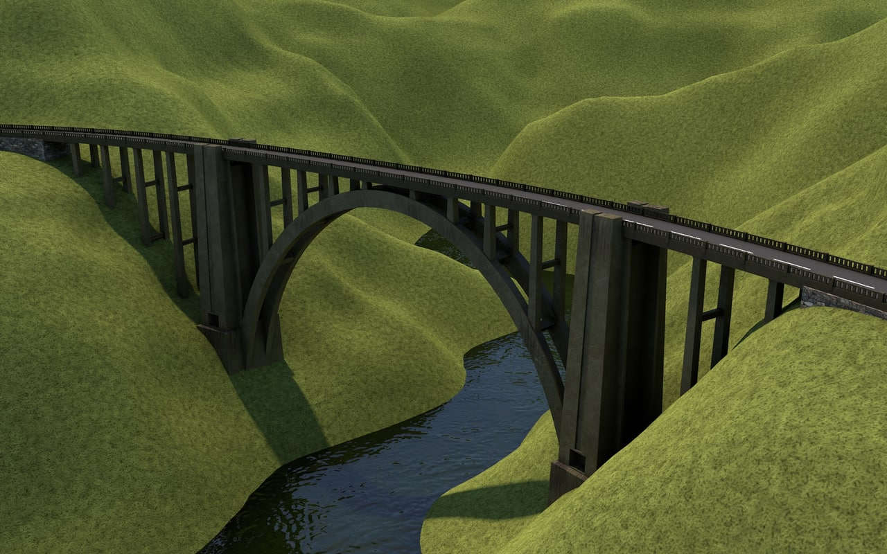 3D bixby creek bridge model