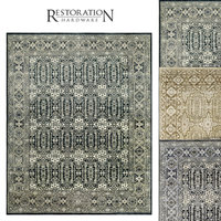 restoration rugs geometric carpets 3D model