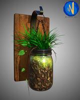 Wall flower pot 3D model