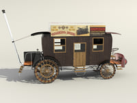 Stagecoach with steam engine