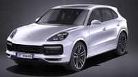porsche cayenne turbo 3D model