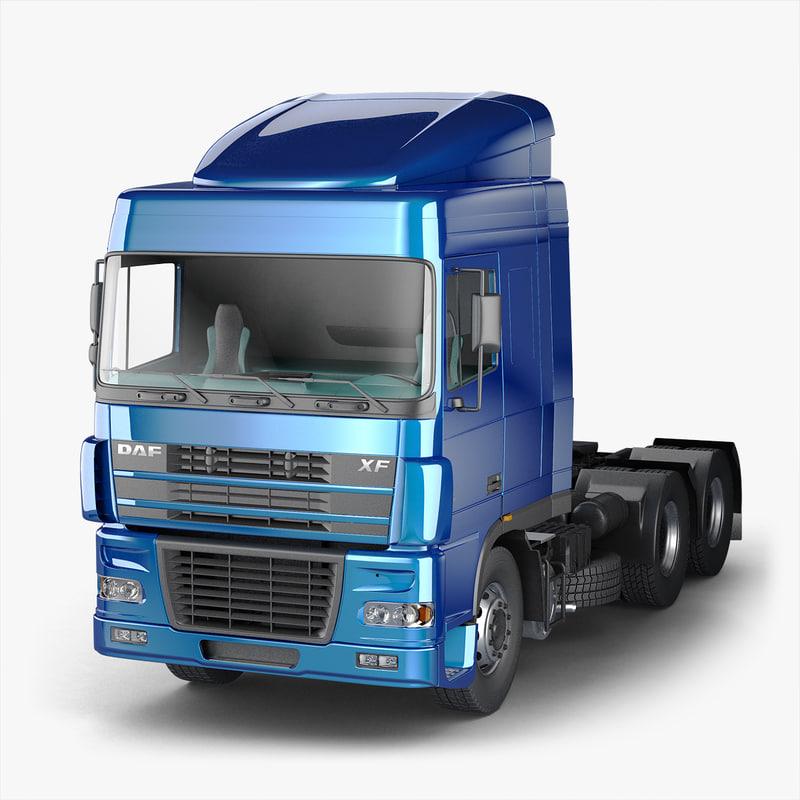 truck daf xf 95 3D