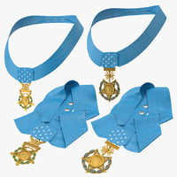 medals honor 3D model
